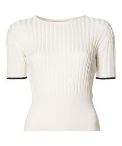 BROCK COLLECTION | Ribbed Detail Knitted Top Small Silk