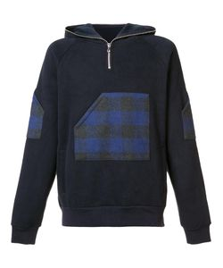Mostly Heard Rarely Seen | Plaid Zipped Neck Hoodie Medium