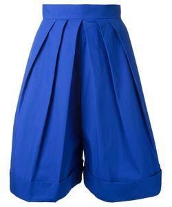 Delpozo | Front Pleat Shorts 36 Cotton