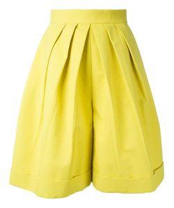Delpozo | Front Pleat Shorts 38 Cotton