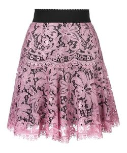 Dolce & Gabbana | Lace Pleated Skirt 36 Viscose/Polyamide/Silk/Polyamide