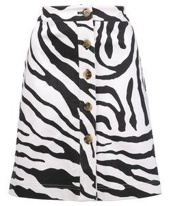Adam Lippes | Zebra Print Skirt 6 Cotton
