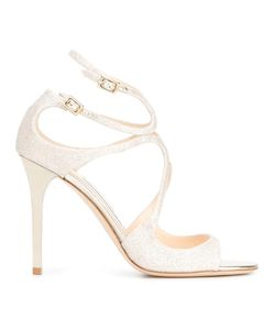 Jimmy Choo | Lang 100 Sandals 37 Calf Leather/Leather/Pvc