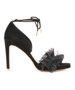 GINGER & SMART | Raffia Strap Sandals 37 Suede