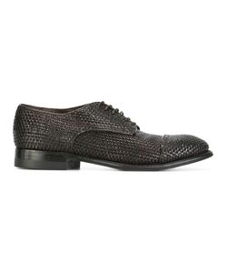 Silvano Sassetti | Interlaced Leather Derbies 8.5 Leather/Rubber