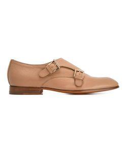 Santoni | Classic Monk Shoes 38 Calf Leather/Leather
