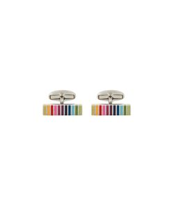 Paul By Paul Smith | Striped Cufflinks Copper/Zinc/Enamel