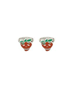 Paul By Paul Smith | Strawberry Skull Cufflinks Copper/Zinc/Enamel