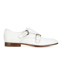 Santoni | Classic Monk Shoes 39 Calf Leather/Leather