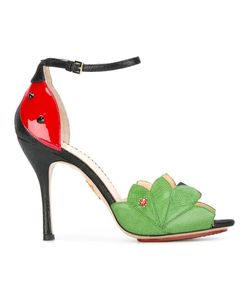 Charlotte Olympia | Adalia Sandals 39 Leather/Patent Leather