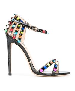 GIANNI RENZI | Open Toe Stiletto Sandals 41 Patent