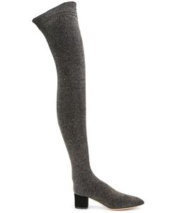 Charlotte Olympia   Less Is More Boots 37 Lurex/Leather