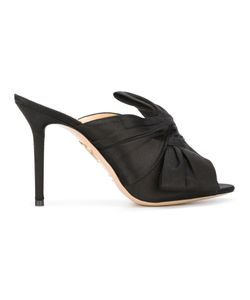 Charlotte Olympia | Ilona Mules 38 Satin/Leather