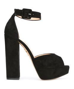 Charlotte Olympia | Eugenie Sandals 37.5 Suede/Leather