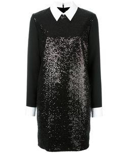Victoria, Victoria Beckham | Victoria Victoria Beckham Sequin Embellished Dress 6 Nylon/Polyester/Cotton/Silk