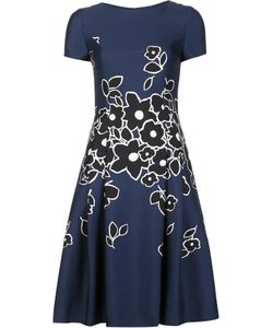 Carolina Herrera | Short Sleeved Dress 0 Silk/Wool