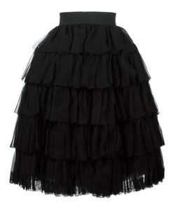 Dolce & Gabbana | Ruffled Layered Dress 42 Silk/Polyamide/Viscose