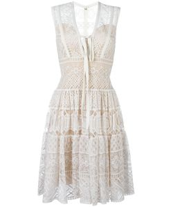 Elie Saab | V-Neck Lace Dress 36 Silk/Polyamide
