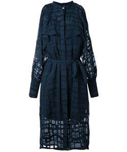 GINGER & SMART | Gravitate Cold Shoulder Dress 12 Silk/Cotton