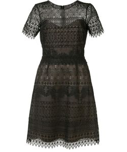 Marchesa Notte | Short Sleeve Lace Dress 2 Polyester