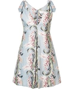 Zimmermann | Print Flared Dress 1 Linen/Flax
