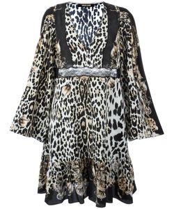 Roberto Cavalli | Расклешенное Платье С Леопардовым Принтом