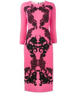 Dolce & Gabbana | Lace Crepe Dress 42 Wool/Silk/Spandex/Elastane/Cotton