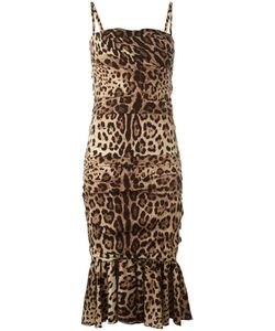 Dolce & Gabbana | Leopard Print Peplum Dress 38 Silk/Spandex/Elastane/Polyamide Dolce