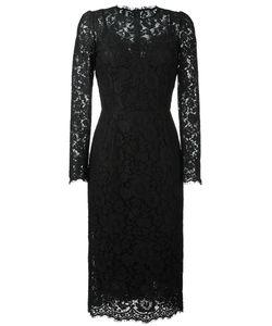 Dolce & Gabbana | Lace Fitted Dress 42 Polyamide/Cotton/Viscose/Polyamide