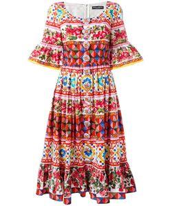 Dolce & Gabbana | Mambo Print Peasant Dress 40 Cotton