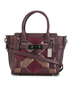 COACH | Geometric Design Tote Leather/Suede