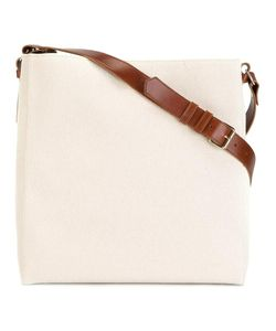 Lanvin | Large Open Shoulder Bag Cotton/Leather