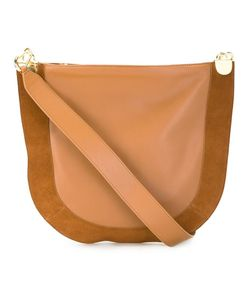 Diane Von Furstenberg | Front Zip Shoulder Bag Suede/Leather