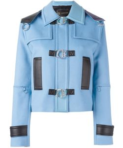 Versace | Leather Trim Jacket 42 Virgin Wool/Cashmere/Lamb Skin/Cupro