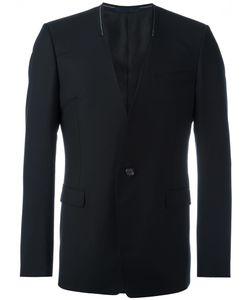 Lanvin | Collarless Stitch Accented Blazer 48 Wool/Mohair/Cupro