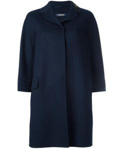'S Max Mara | Classic Buttoned Coat 38 Angora/Virgin