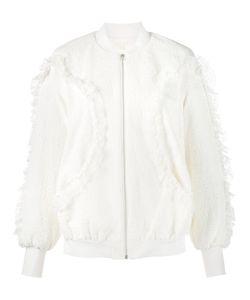 Jonathan Simkhai | Textured Bomber Jacket Medium Cotton/Polyamide/Spandex/Elastane/Polyester