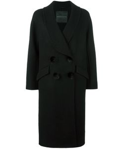 Ermanno Scervino | Pompom Detailing Mid Coat 46 Virgin Wool/Mohair Ermanno