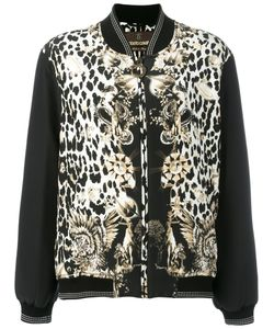 Roberto Cavalli | Leopard Print Bomber Jacket 40 Silk/Cotton/Polyimide