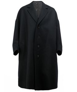Christopher Nemeth | Oversized Mid Coat Polyester/Cupro/Wool