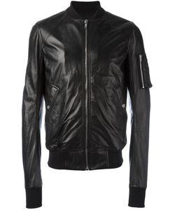 Rick Owens | Raglan Bomber Jacket 54 Cupro/Viscose/Sheep Skin/Shearling/Virgin Wool