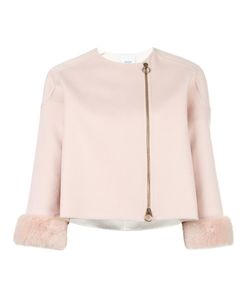 Agnona | Cropped Cashmere Jacket 40 Mink Fur/Cashmere