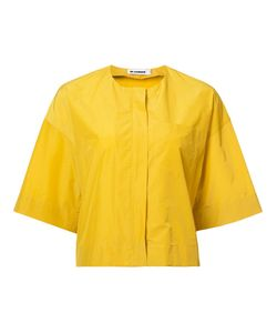 Jil Sander | Collarless Cropped Jacket 36 Cotton/Polyamide