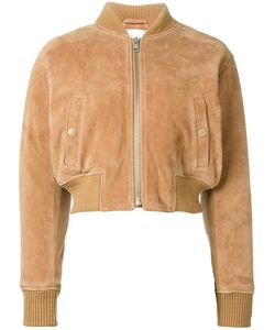 See By Chloe | See By Chloé Cropped Bomber Jacket 38 Leather/Viscose/Polyester