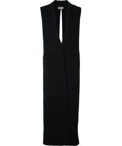 NOMIA | Long Slit Back Vest 8 Bemberg/Cupro