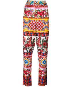 Dolce & Gabbana | Mambo Print Trousers 42 Silk