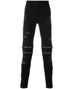 MARCELO BURLON COUNTY OF MILAN | Ripped Zipper Detailing Trousers