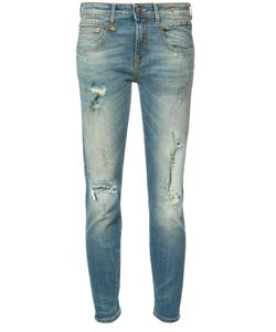 R13 | Distressed Skinny Jeans 29 Cotton