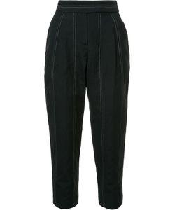 Brunello Cucinelli | High-Waisted Trousers 46 Virgin Wool/Linen/Flax/Polyester/Cupro