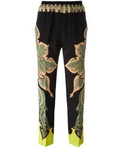 Etro | Paisley Print Trousers 42 Silk/Spandex/Elastane